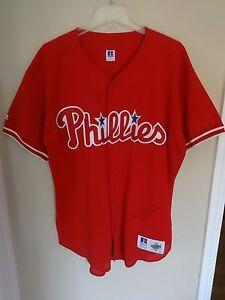 Image is loading Vintage-Russell-Athletic-Philadelphia-Phillies -Premium-Baseball-Jersey- 99f14ba97291