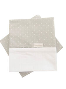 Kidz-Kiss-Petit-Dots-2-Piece-Bassinet-Cradle-Sheet-Set-Grey