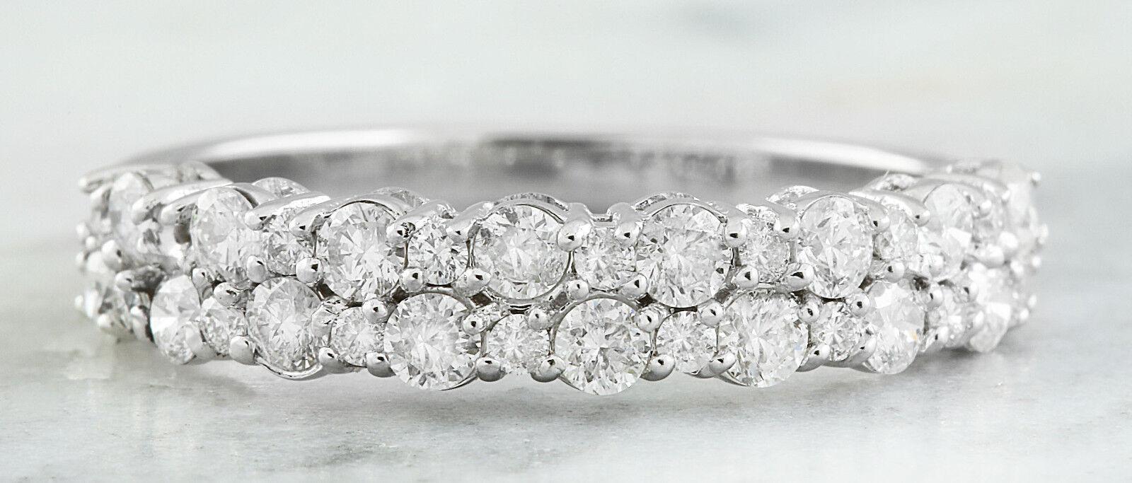 0.75 Carat Genuine Diamond 14K Solid White gold Ring