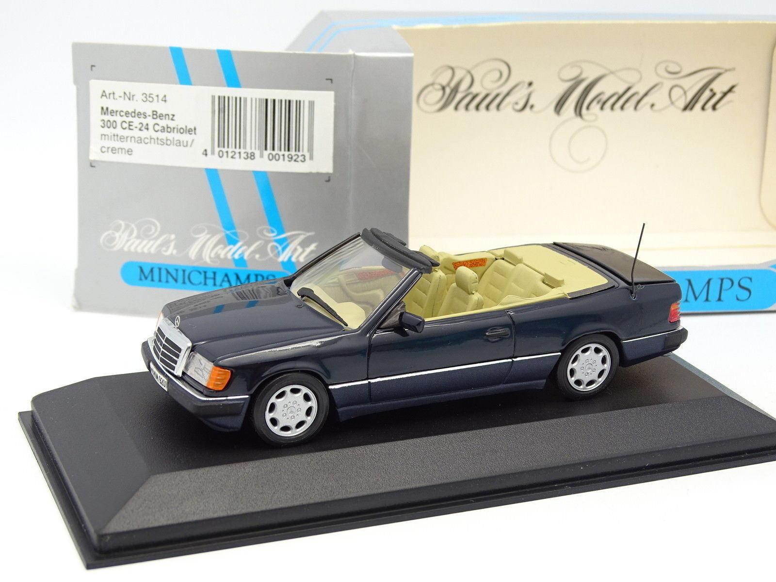 Minichamps 1 43 - Mercedes W124 300 Este 24 Cabriolet Azul