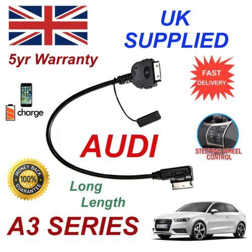 AUDI A3 4F0051510K Iphone 3GS 4 4s y la mayoría de iPods MMI Audio Cable de larga duración