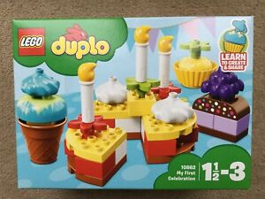 Lego Duplo 10862 My First Celebration Build Colourful Cakes New