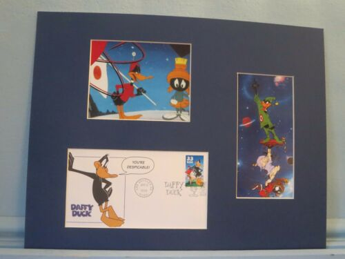 """Marvin the Martian"" with Bugs Bunny & the First day Cover of Daffy Duck stamp"