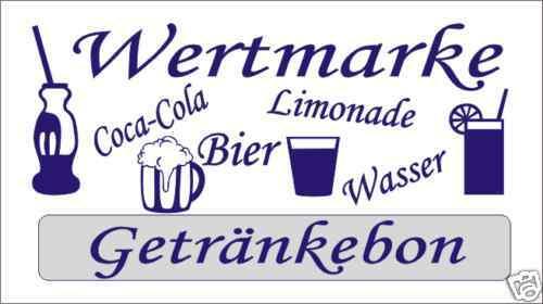 10000 Wertmarken Biermarken  Getränkebon, Getränke  blau | Verbraucher zuerst  | Maßstab ist der Grundstein, Qualität ist Säulenbalken, Preis ist Leiter