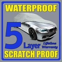 5 Layer Car Cover Breathable Waterproof Layers Outdoor Indoor Fleece Lining Fip