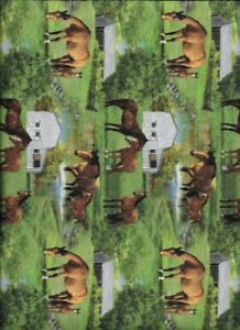 Springs Wild Wings Summer Breeze 66441 Horse Scenic  Cotton Fabric