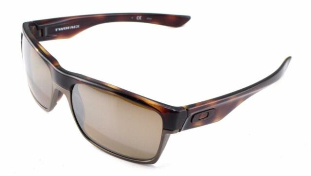 New Oakley Sunglasses Two Face Brown Tortoise Polarized #9189-17 New In Box