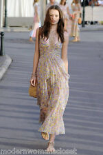 Beautiful Chanel 11C Classic Silk Maxi Dress Summer Cocktail NEW 38 RARE Resort