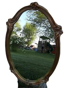 Vintage Carolina Mirror Company Oval Gilded Mirror