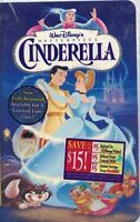 Cinderella Vhs, 1995 Disney Masterpiece Collection Edition Sealed Clam Shell