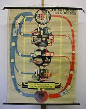 schöne alte Schulwandkarte Money DM EUR Papiergeld Kreislauf 85x115 vintage 1955