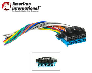 details about plugs into factory radio car stereo wiring harness wire reverse fits gm Ford CD Player Wiring Harness