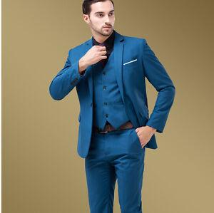 Men lake blue slim fit men 39 s formal casual wedding dress for Casual wedding dresses for man