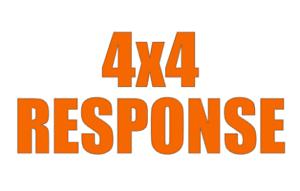 4x4 RESPONSE Sticker Rescue Lowland highland Cave Mountain Coastguard Decal x2 M