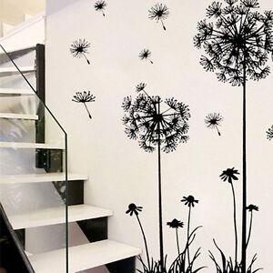das bild wird geladen pvc wandaufkleber pusteblume loewenzahn wohnzimmer wandsticker wandtattoo de