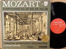 PHILIPS HOLLAND Mozart C. DAVIS Symphonies #29 #25 #32  835 262 AY