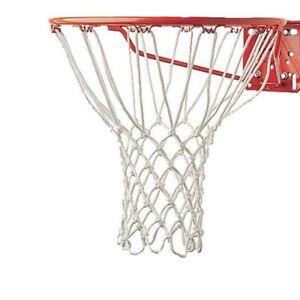 WHITE-Replacement-Basketball-Net-Nylon-Weather-Hoop-Goal-Standard-Rim-Outdoor