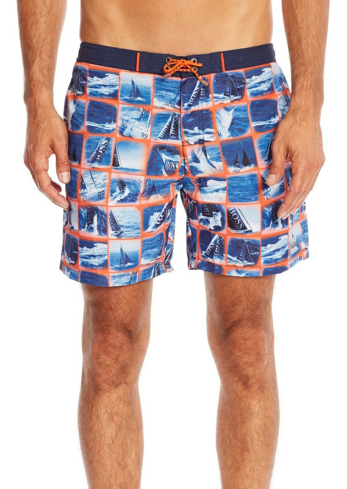 New Mens BOSS Hugo Boss Octopus Mosaic Sailing Swim Trunk Shorts XXL