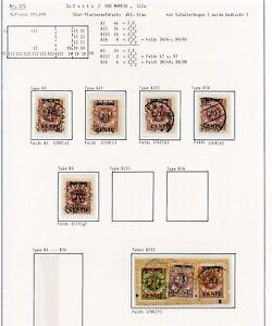Memel-Nr-171-Studie-auf-6-Albenseiten-in-Einheiten-Typen-PLATTENFEHLER-C0254