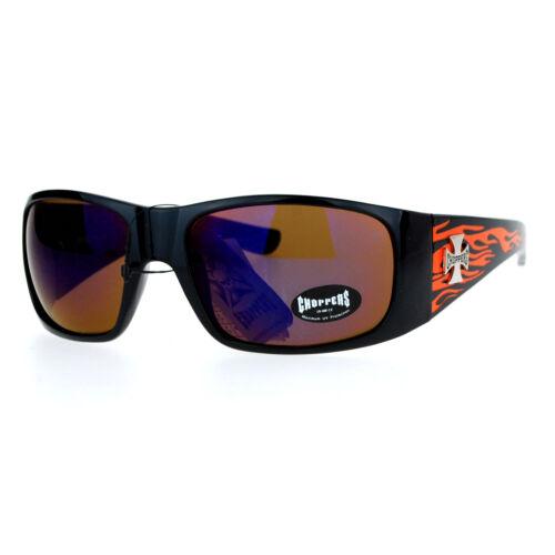 Choppers Mirror Color Lens Hot Rod Flaming Arm Biker Warp Sunglasses