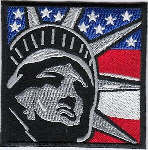 "25 Pcs USA American Flag black border Embroidered Patches 3/""x2/"" iron-on"