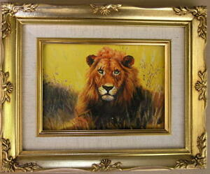 Framed-Oil-Painting-034-A-Lion-King-1-034-9x11-inches