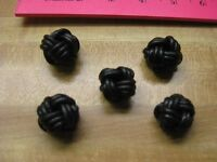Leather Beads Crafts Necklaces Decoration Earrings ( First Time ) Item Black