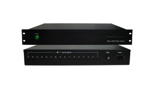 16 Camera 12v DC 20A 1.5U Rackmount Switchable Power Box 110V//240V AC 2yr