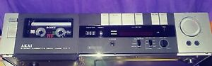 Vintage-AKAI-HX-1-Silver-Stereo-Cassette-Deck-TESTED