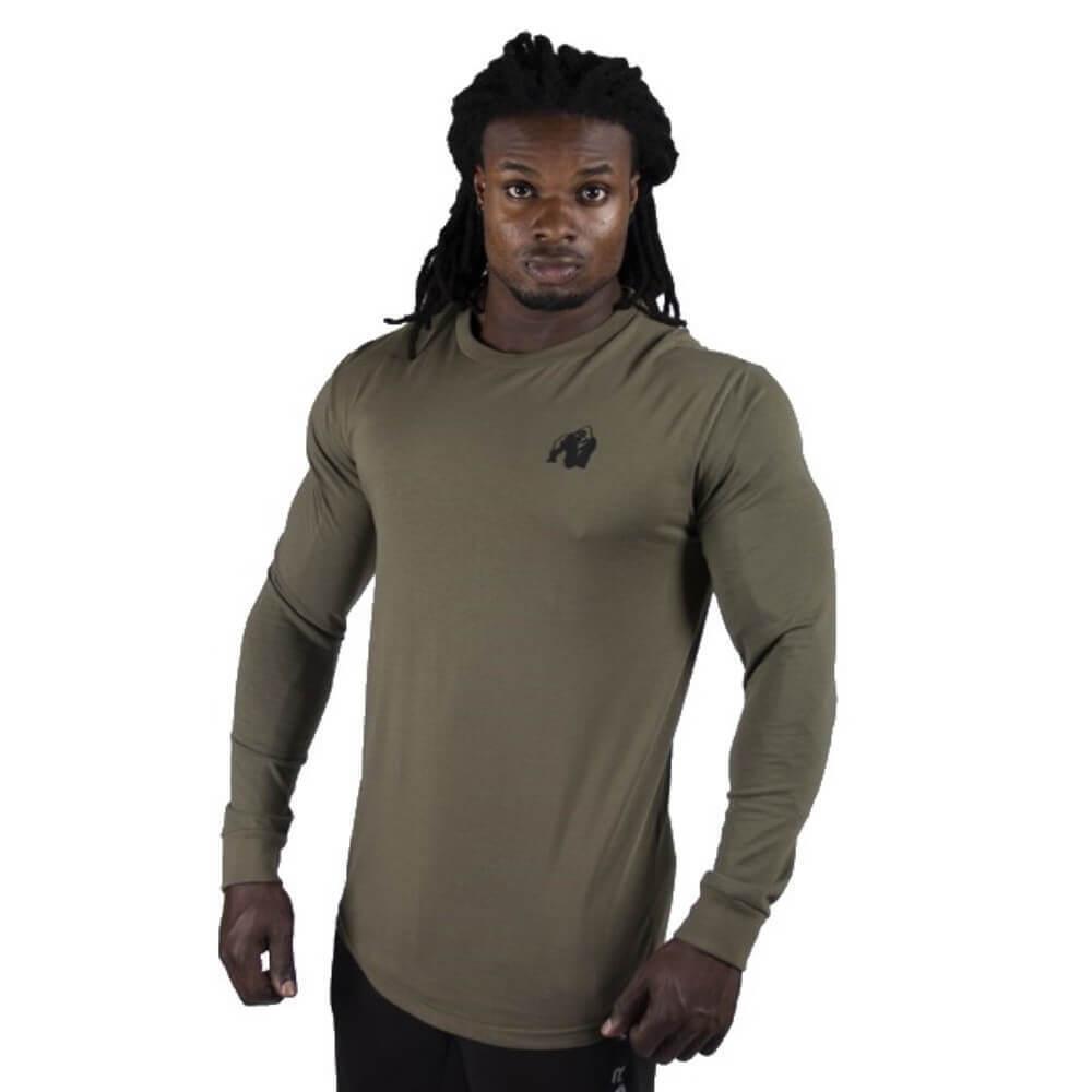 Gorilla Wear Williams Maniche Lunghe Esercito Verde