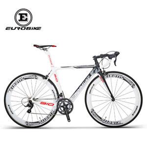 Road-Bike-700C-Carbon-Fiber-Frame-18-Speed-Cycling-Road-Racing-Bicycle-50cmWhite