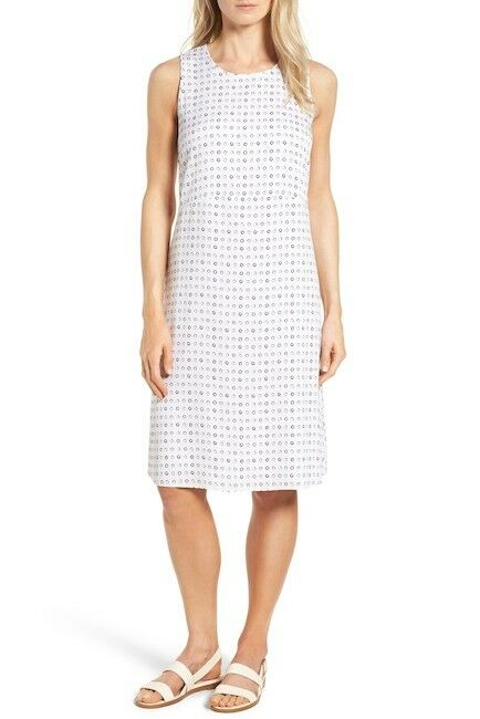 NWT Nordstrom Collection Stretch Silk Shift SLEEVELESS Dress Ivory Women 8  279