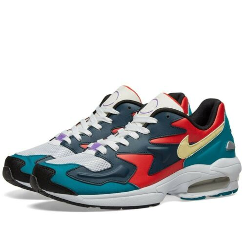 Nike Air Max 2 Light SP HABANERO RED ARMORY NAVY RADIANT EMERALD BV1359-600 4-15