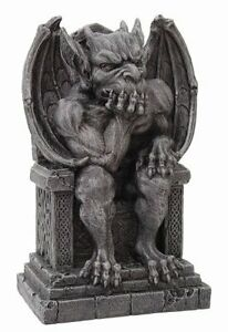 THE THINKER Medieval Gargoyle Statue Thinking, New, Free Shipping