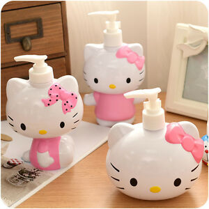 Beautiful Image Is Loading New Cute Pump Hello Kitty Head Bath Dispenser  Images