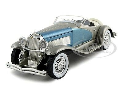 1935 DUESENBERG SSJ SILVER/BLUE 1:32 DIECAST MODEL CAR  SIGNATURE MODELS 32318