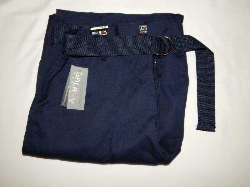 Pantaloncini Galaxy Harvic 36 Cargo Blu Navy Piatto Avanti Web Belt Uomo Nuovo