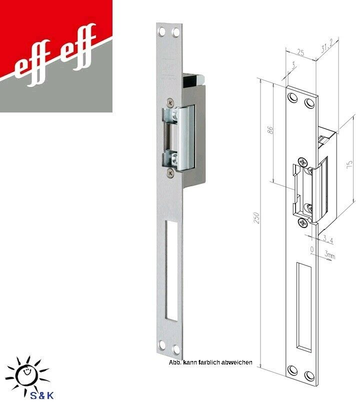 Effeff Assa Abloy Elektro-Türöffner 17----- 02135D11 edelstahl -  links / rechts
