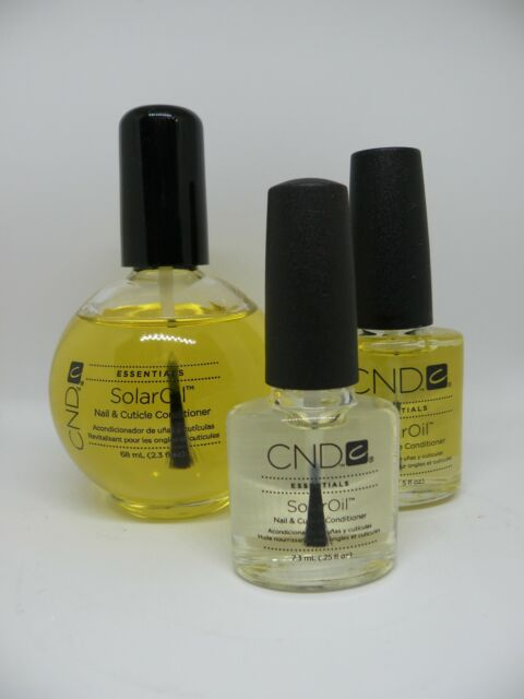 CND Essentials SOLAR OIL Nail Cuticle Conditioner Polish Treatment Salon