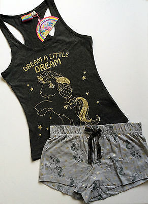 Ladies MY LITTLE PONY Glitter Vest & Shorts Pyjama Set PJ's from Primark