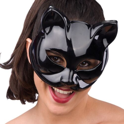 Maschera nera catwoman donna gatto in plastica pesante