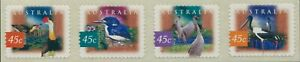 Australia-1997-SG1681-1684-Kakadu-Wetlands-Birds-diecut-strip-MNH