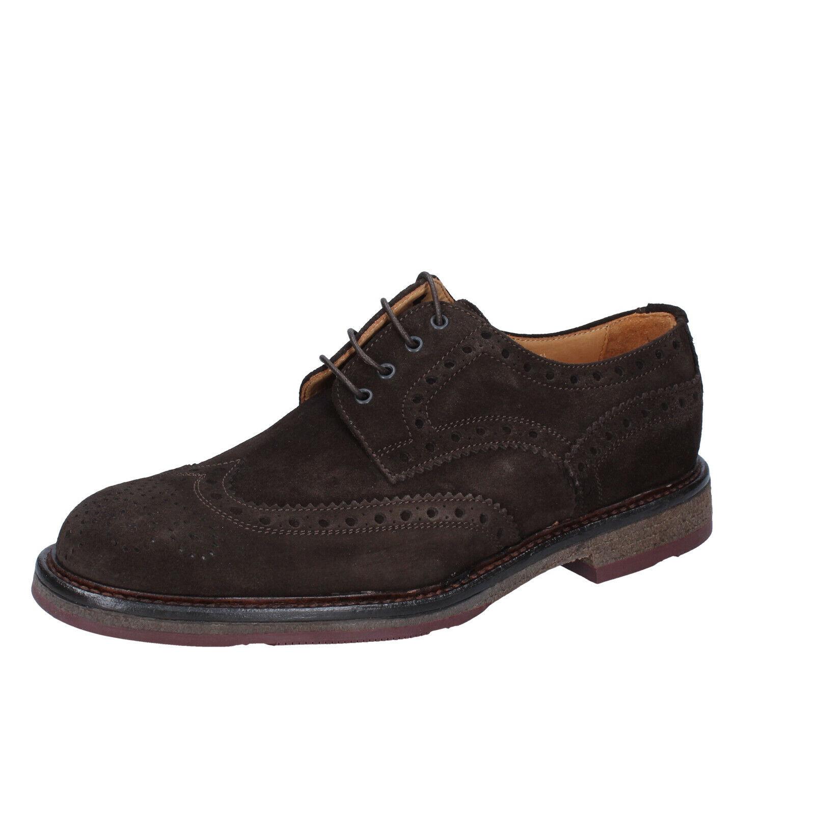Men's zapatos ZENITH 10 () elegant marrón suede BS692-43