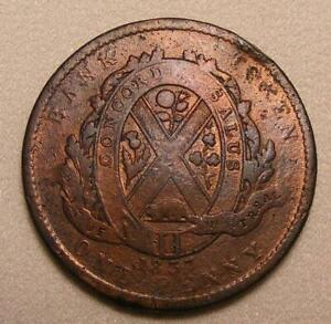 1837-Province-Of-Lower-Canada-Bank-Of-Montreal-1-Penny-2-Sou-Token-BR-521
