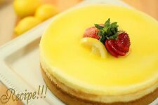 "☆Luscious and Large!☆Lemon Cheesecake ""RECIPE""☆Super Good!!!☆"