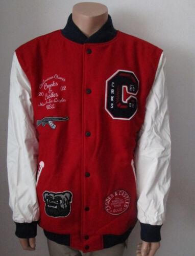 Sz Gr 2xl Baseball Jacket a pulsante Chiusura Castles xxl Crooks SqatIn