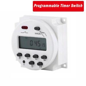 14V-220V-Prise-Programmable-Digitale-Ecran-LCD-Programmateur-Hebdomadaire