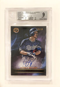 2016 COREY SEAGER Topps Legacies Exhilaration Dodgers Rookie RC Auto #/50 BGS 9