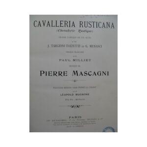 Vereinigt Mascagni Pietro Cavalleria Rusticana Schauspiel Chant Piano 1900 Partitur Seien Sie In Geldangelegenheiten Schlau Noten & Songbooks