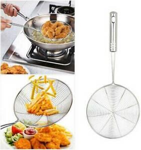 Kitchen-Strainer-Skimmer-Cookware-Basket-Stainless-Steel-Frying-Pasta-Tools